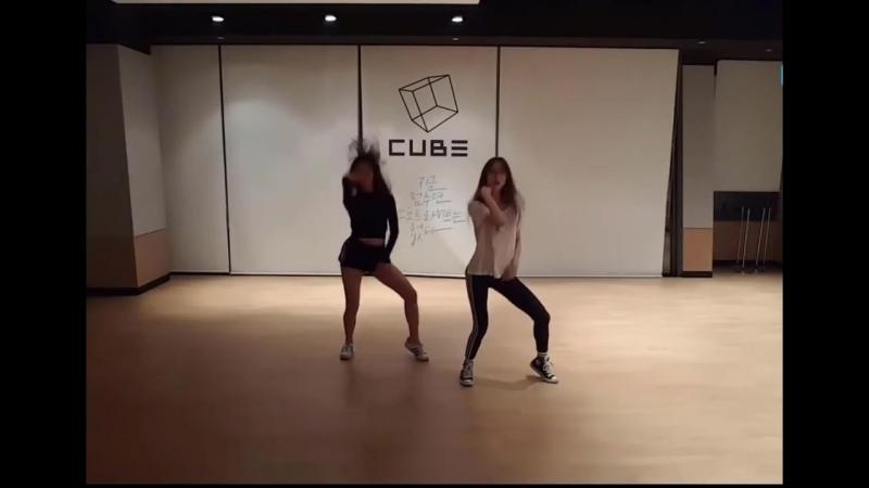 Clc (seungyeon ; yujin) - dance cover by hyuna - babe and kard - hola hola