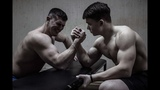 ARMWRESTLING 15 YEARS OLD MUSCLE BOY VS PRO BODYBUILDER Who win
