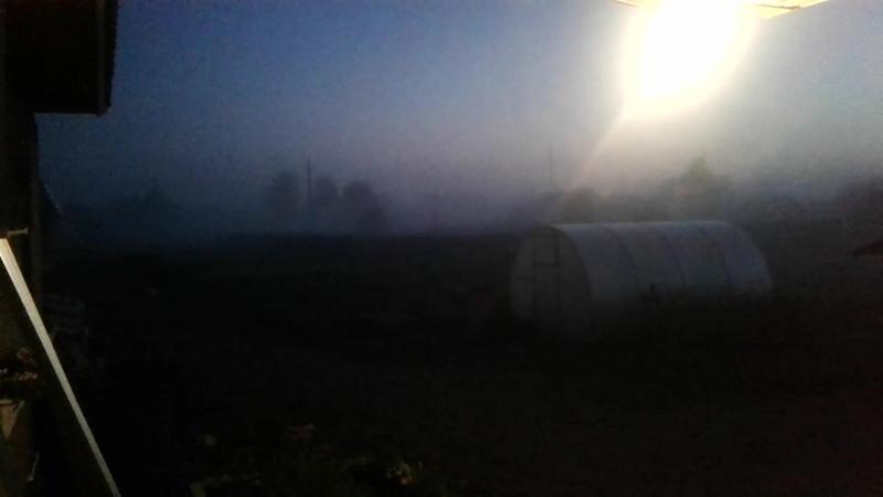 Архангельская область Вельский район посёлок Аргуновский 16 июля 2 часа ночи...Туман...
