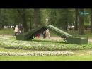 В Александровском саду показали главные достопримечательности города из цветов