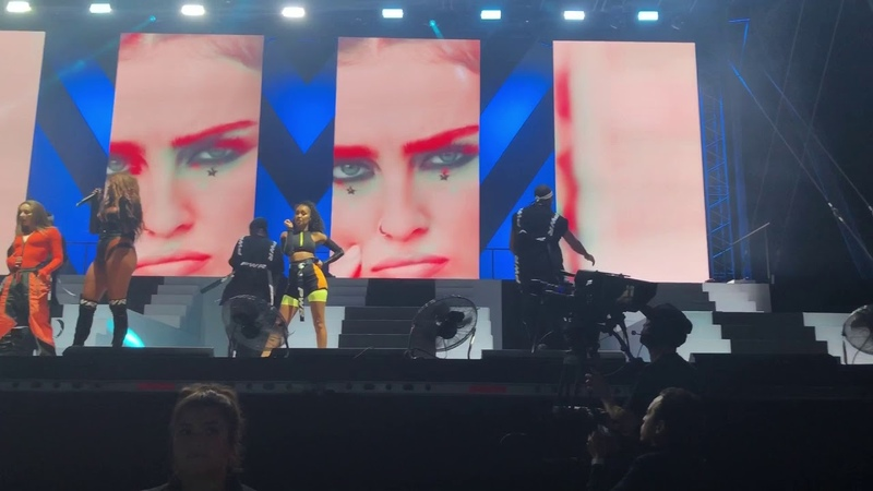 Little mix shout out to my ex hull KCOM craven Park 13th July 2018