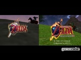 Zelda Ocarina of Time - N64 vs 3DS side-by-side