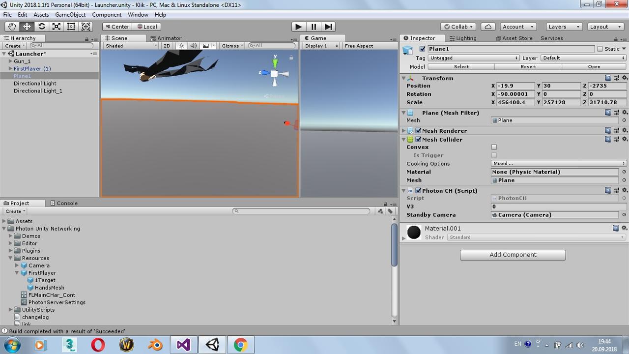 Unity + photon  2 игрока и обмен камерами  (Решено) / Общее
