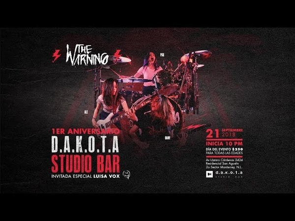 The Warning Live DAKOTA Studio Bar, 1st anniversary » Freewka.com - Смотреть онлайн в хорощем качестве