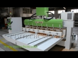 Argentina Multi-heads 4axis cnc carving machine, high precision 4axis wood cnc milling machine