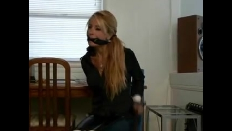 Hot girl bound and gagged scene