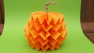 Осенние Поделки Из Бумаги в Школу, Садик. Оригами Тыква на Хэллоуин