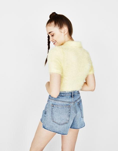 Джинсовые шорты в винтажном стиле
