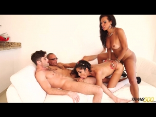 [Trans500] Jhoany Wilker, Perla Rios - Ultimate Gangbang! [Shemale, Hardcore, Gangbang, 1080p]