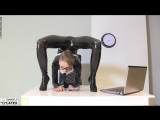 Sexy Zone - Gymnastics in NYLONS LATEX Catsuit with High Heels,All sex,New 2018,Epic Office Lady,Workout,Ass