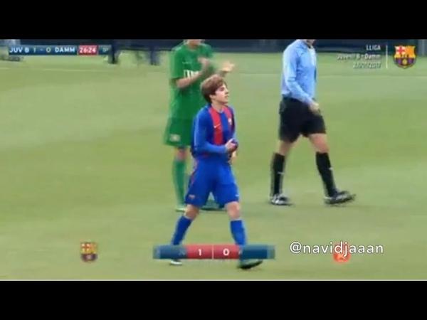 Riqui Puig (Juvenil B) highlights vs CF Damm (280117)