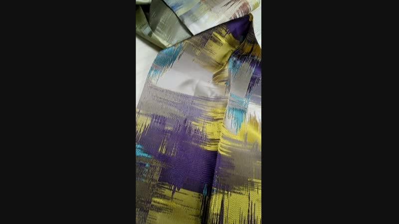 Жаккардовая портьерная ткань с абстрактным рисунком