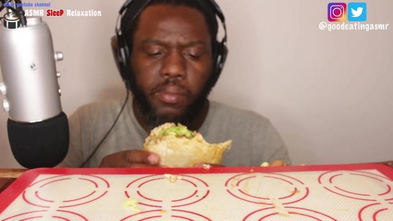 [Good Eating ASMR] ASMR: Eating Giant Burrito *Big Bites* No Talking