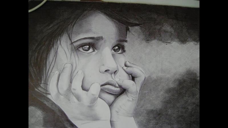 рисунок | speed drawing with ballpoint pen portret girl | Oleg Kozelski