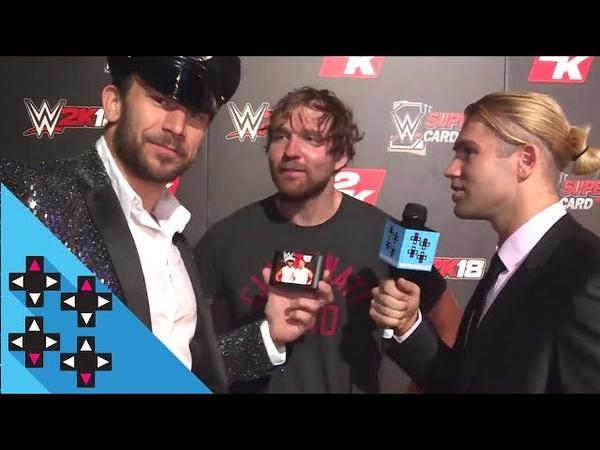 DEAN AMBROSE AJ STYLES BOBBY ROODE ALEXA BLISS SAMOA JOE are HYPED for WWE 2K18