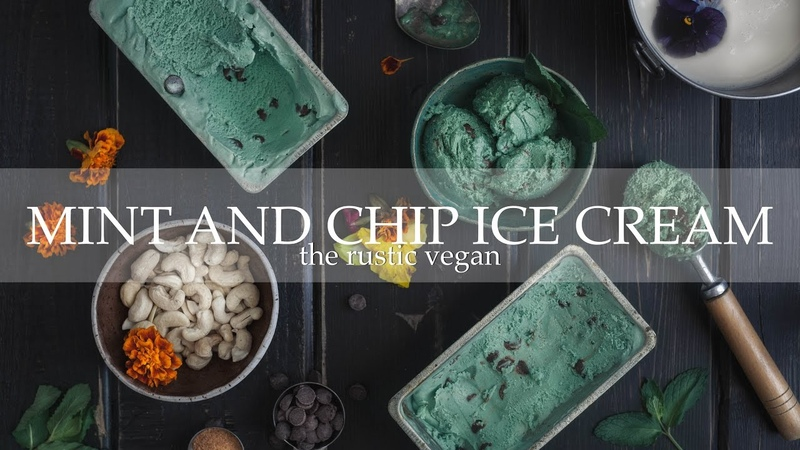 Vegan Recipe Homemade Mint And Chocolate Chip Ice Cream (No Ice Cream Machine Needed)