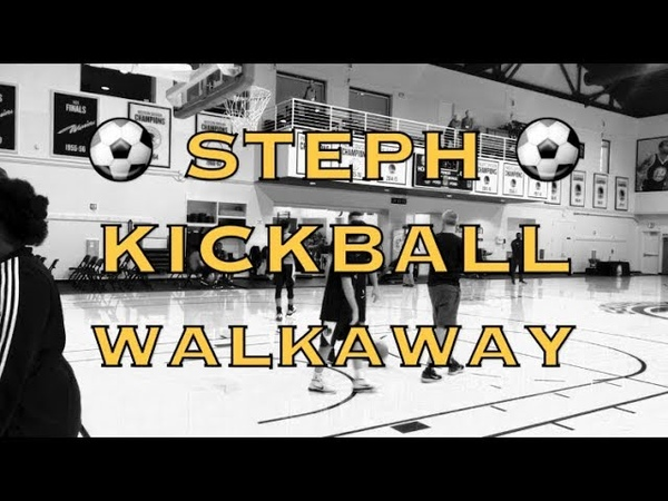 Steph Curry's kickball walkaway bonus splash after Warriors practice, 3 days before Seattle
