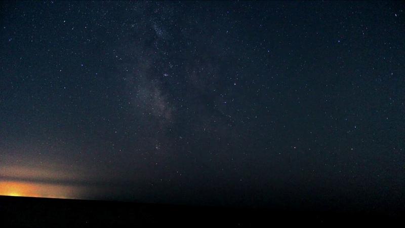 Звездное небо таймлапс 4K UHD. Starry Night Time Lapse 4K UHD