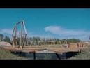 Студия геосфер. Сборка 1-го ряда каркаса. Объект №18. Купольный дом V4 R5,35.