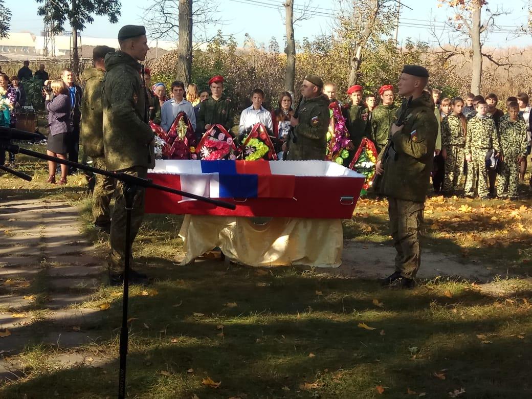 В Большесолдатском районе перезахоронили останки советских солдат