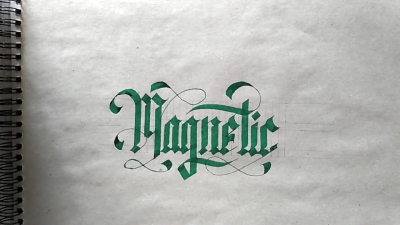 Magnetic calligraphy
