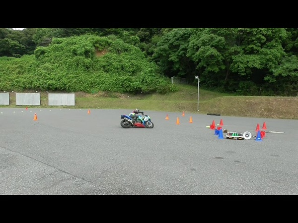 Gymkhana GP 2018 stage2 Haruhiko Tsujiie SUZUKI GSX R1000/ heat 1 (37.562s)