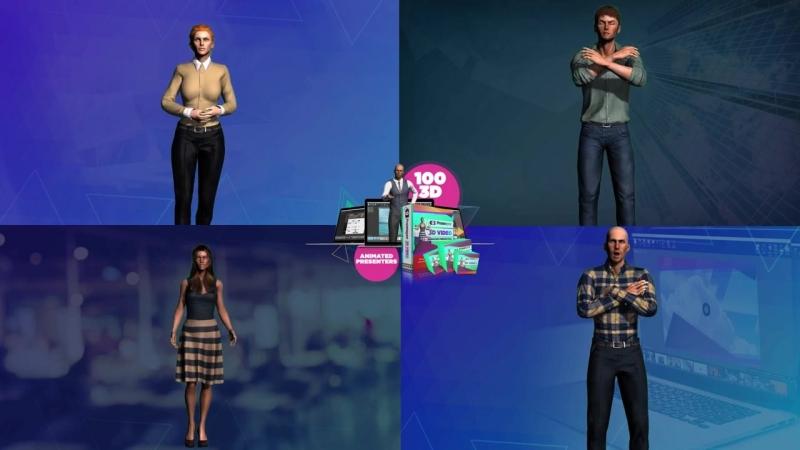 100 3D-анимационных презентаций, которые вы получите мгновенно!