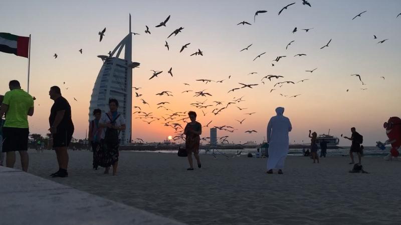 Закат 🌅 Burj al Arab