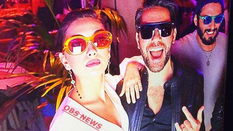 Неслихан Атагюль и Кадир Догулу на вечеринке от Polaroid Eyewear Türkiye