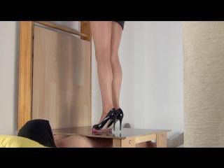 Secretary Alina Pierces And Crushes Genitals / Foot Fetish / Footjob