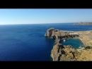 Средиземное море и знаменитая бухта Св. Павла в г. Линдос