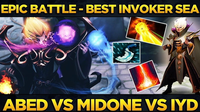 EPIC Battle of the BEST SEA Invoker Players - Abed vs MidOne vs inYourdreaM