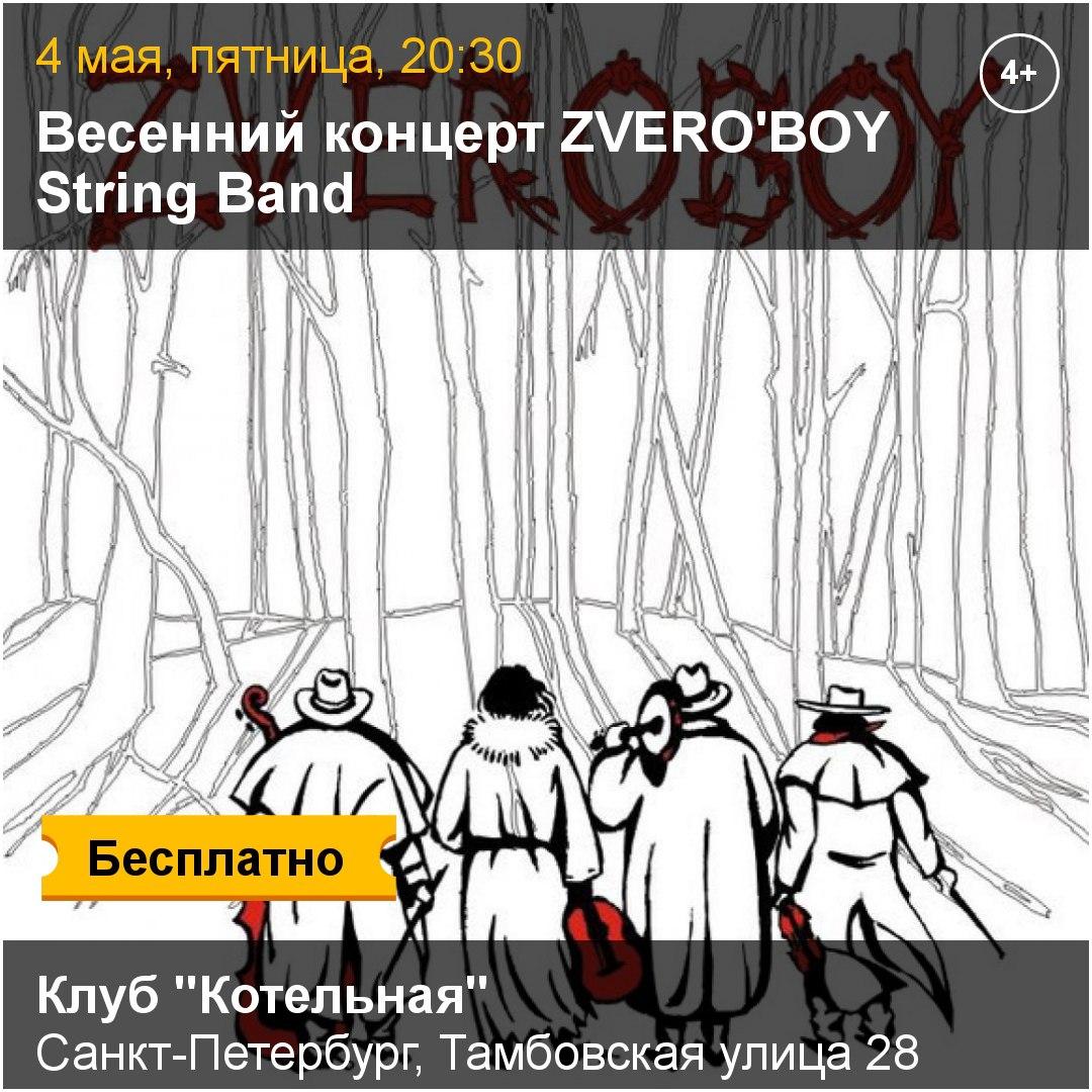 04.05 Zveroboy String Band в клубе Котельная!
