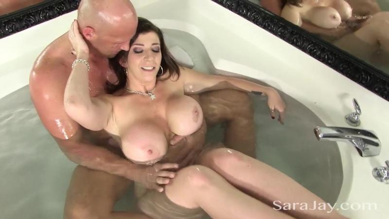 Sara Jay Fucks A Hard Cock in the Tub big tits milf Boobs mom Brazzers wife anal ass naughty america blow job hand job busty