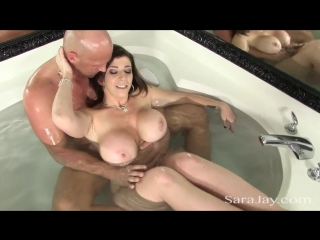 Sara jay fucks a hard cock in the tub big tits milf boobs mom brazzers wife anal ass naughty america blow job hand job busty