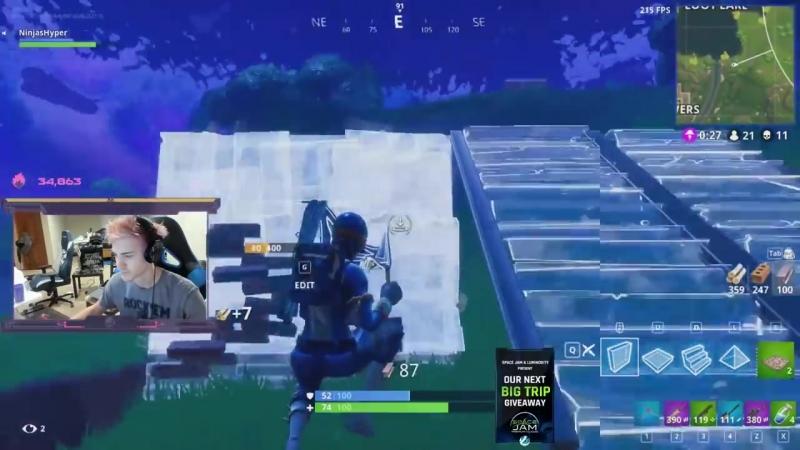 [Ninja] Dropping in at Tilted Towers - Fortnite Battle Royale Gameplay - Ninja