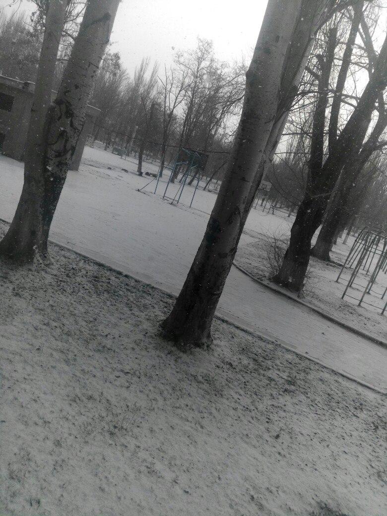Северный Крым дождался снега