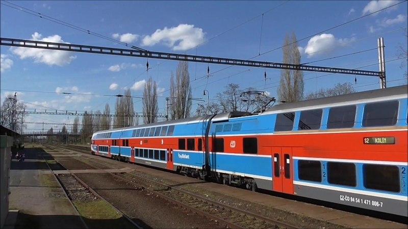 Šocení | Vlaky ve stanici Poděbrady 14.4.2018