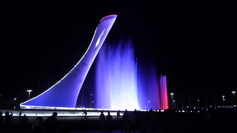 Шоу в Олимпийском парке в Сочи