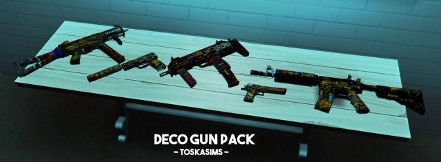 Deco Guns by Toskasims