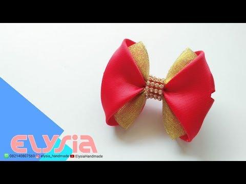 Laço Angela 🎀 Ribbon Bow 🎀 DIY by Elysia Handmade