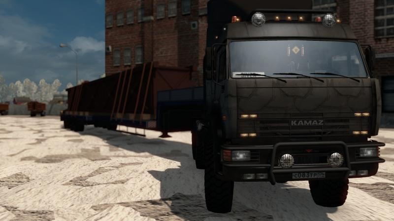 ETS2 | Суровая Россия: Байкал R20 | КАМАЗ 65221 | Бурнашево - Семисточный