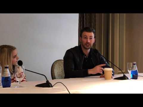 McKenna Grace Hugs Chris Evans -- GiftedMovie
