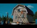 Каркасный дом с террасой. Отделка дома виниловым сайдингом.