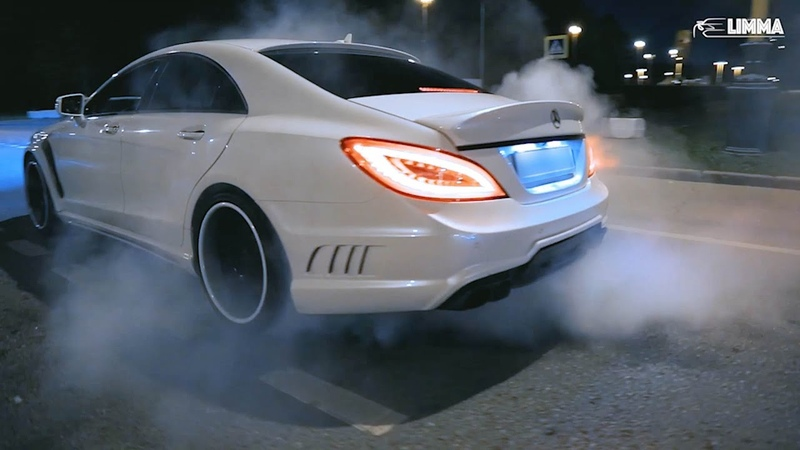 Mercedes CLS63 vs Lexus IS-F drift battle Moscow