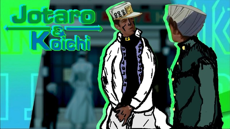 Drake and Josh but it's Koichi and Jotaro get stuck with Sheer Heart Attack in a shoe store