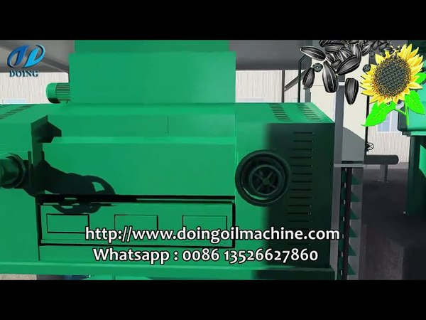Sunflower oil extraction machine, sunflower oil processing steps video