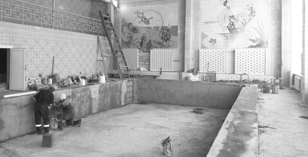Ремонт в бассейне «Олимпиец»