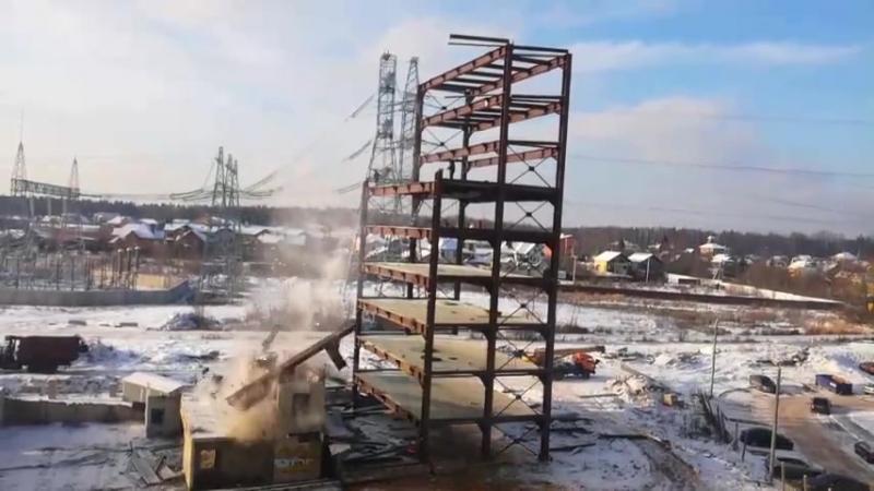 Демонтаж паркинга в Трёхгорке
