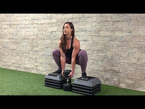 Dumbbell Between-Bench Squat